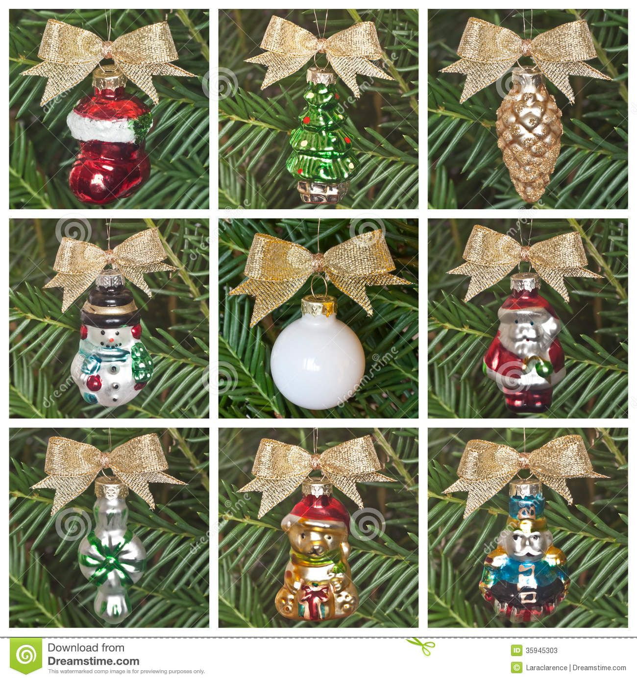 1950s christmas ornaments retro christmas tree ornaments stock photos image 35945303