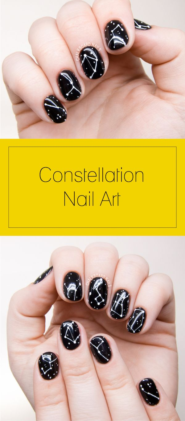 Galaxy Inspired DIY Constellations Nail Art To Try