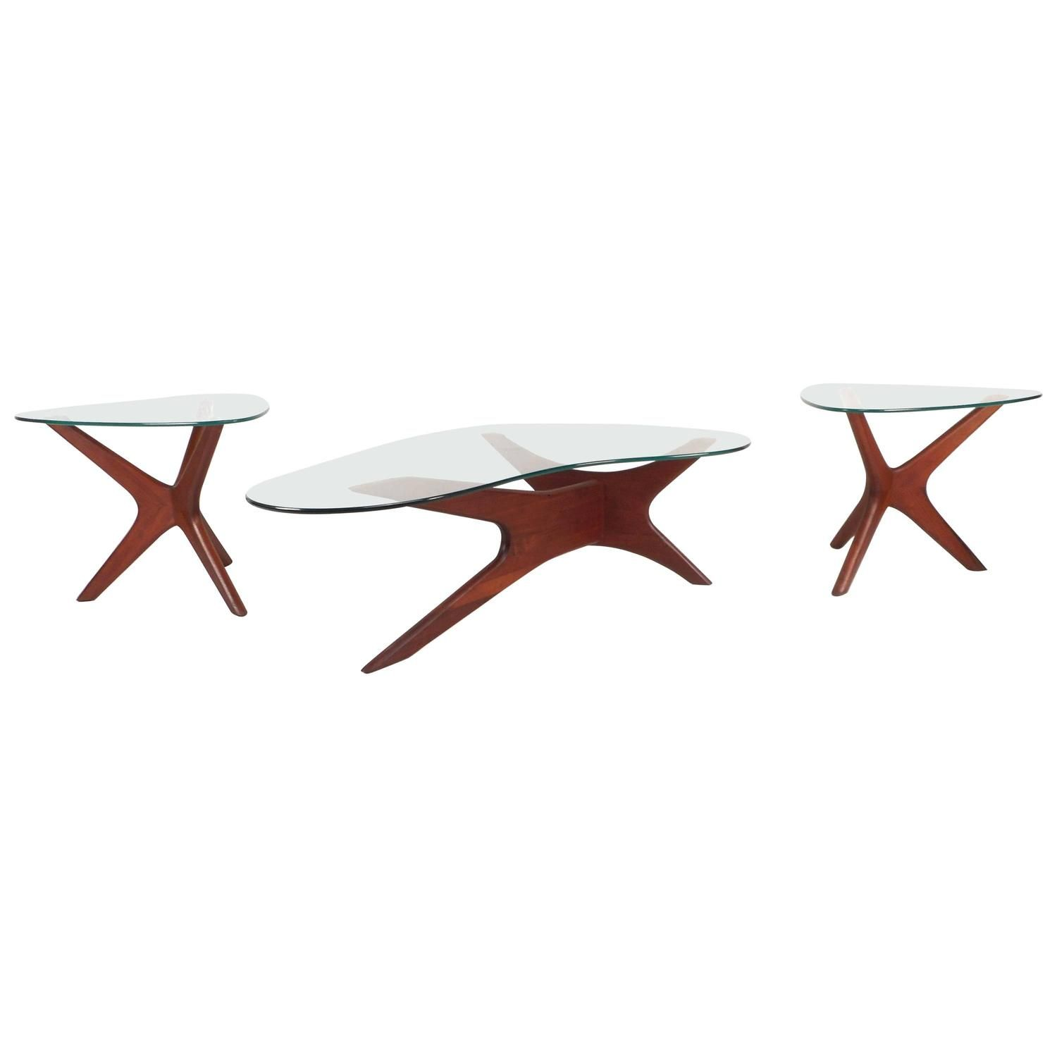 Set Of Mid Century Modern Glass Coffee Tables By Adrian Pearsall Modern Glass Coffee Table Glass Coffee Table Coffee Table [ 1500 x 1500 Pixel ]