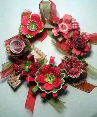 Decotative Floral Wreath | Paulines Passions MISI Handmade Shop £4.50