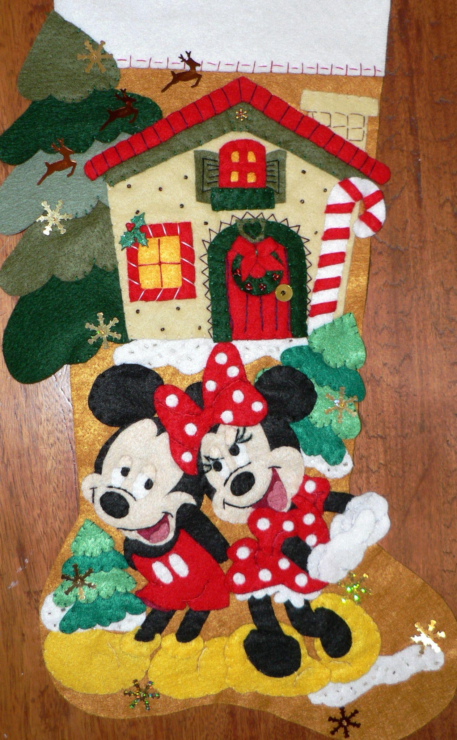 Minnie y mickey enamorados mikey mouse pinterest - Decoracion navidena fieltro ...