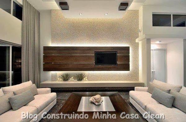 Modern Living Room Home Theater home theater! 20 projetos de salas de tv modernas!!! | tvs, living