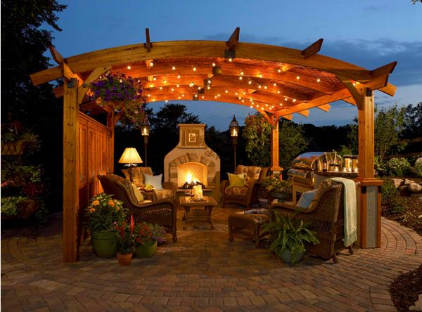 Outdoor Gazebo Lighting Fascinating 20 Amazingly Gorgeous Gazebo Lighting  Pinterest  Gazebo Lighting