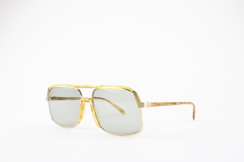 5156f74883d2 70s Vintage Aviator Sunglasses | Oversized Aviator Sunglasses | Gold and  Amber Frame Light Grey Lenses | NOS Vintage Deadstock - Savoia by  MainAndGrand on ...