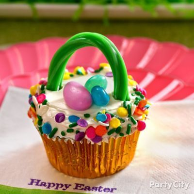 The sweetest little easter basket is a candy covered cupcake the sweetest little easter basket is a candy covered cupcake negle Images