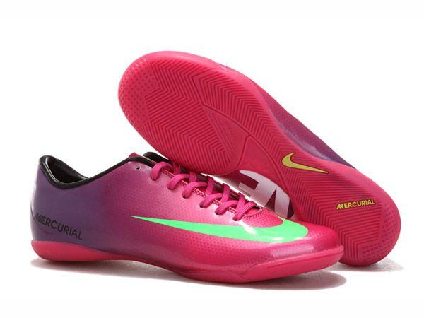 Nike Mercurial Victory IX IC Football De Chaussures Pour Homme Violet/Rose  Crampons De Football