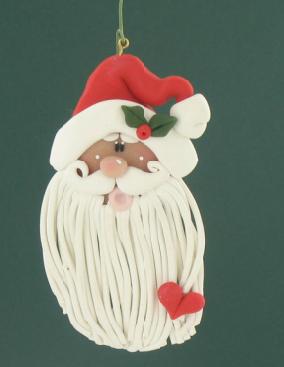 DIY Sculpey® Long Beard Santa Ornament