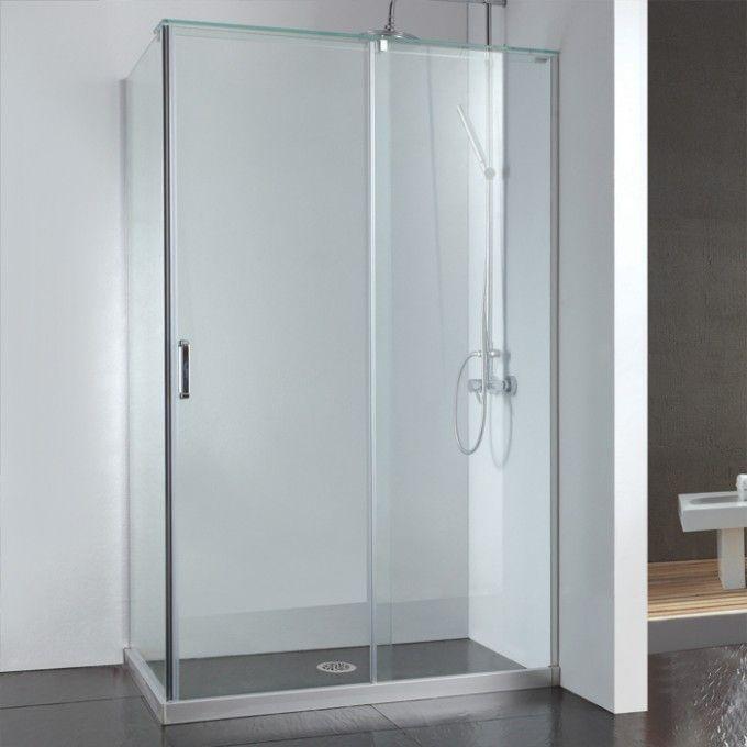45 X 31 Alva Corner Shower Enclosure With Sliding Door Shower Bathroom With Images Corner Shower Enclosures Shower Sliding Glass Door Glass Shower Doors