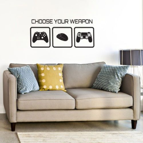 Gaming Wall Sticker   Choose Your Weapon Video Game Wall Sticker