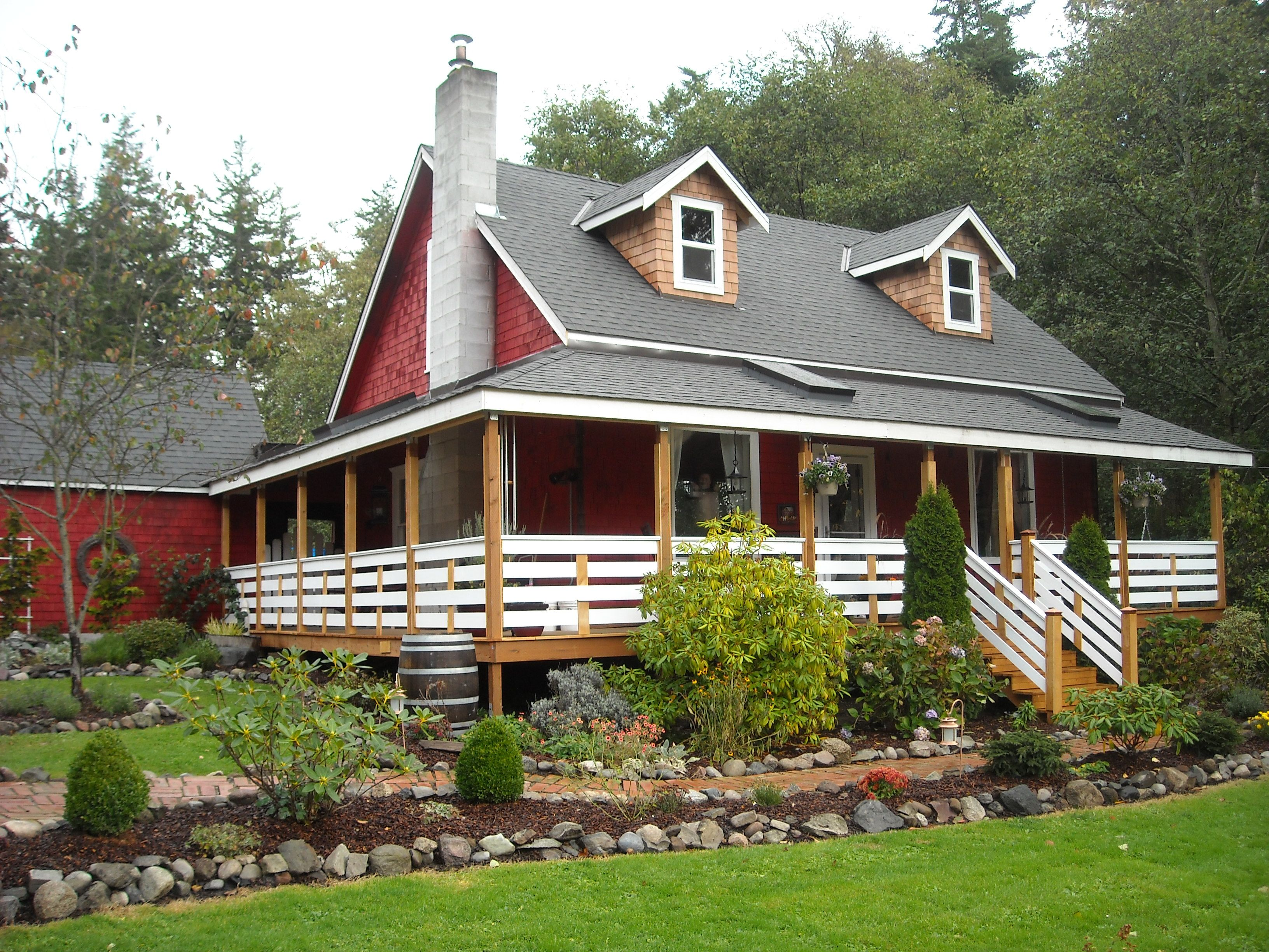 my little red farm house on Whidbey Island Washington