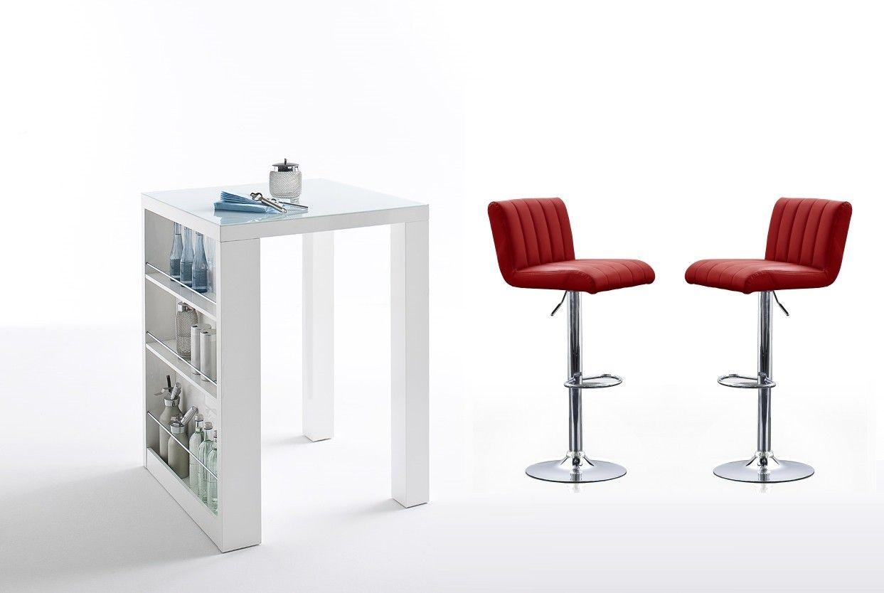 der bartisch weiss hochglanz mit 2er set barstuhl von woody m bel kombiniert bartisch und. Black Bedroom Furniture Sets. Home Design Ideas