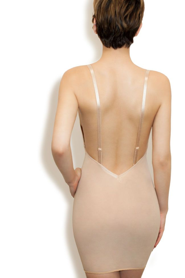 A Low Back Mesh Slip With By Dmondaine Rita The Journal Wedding