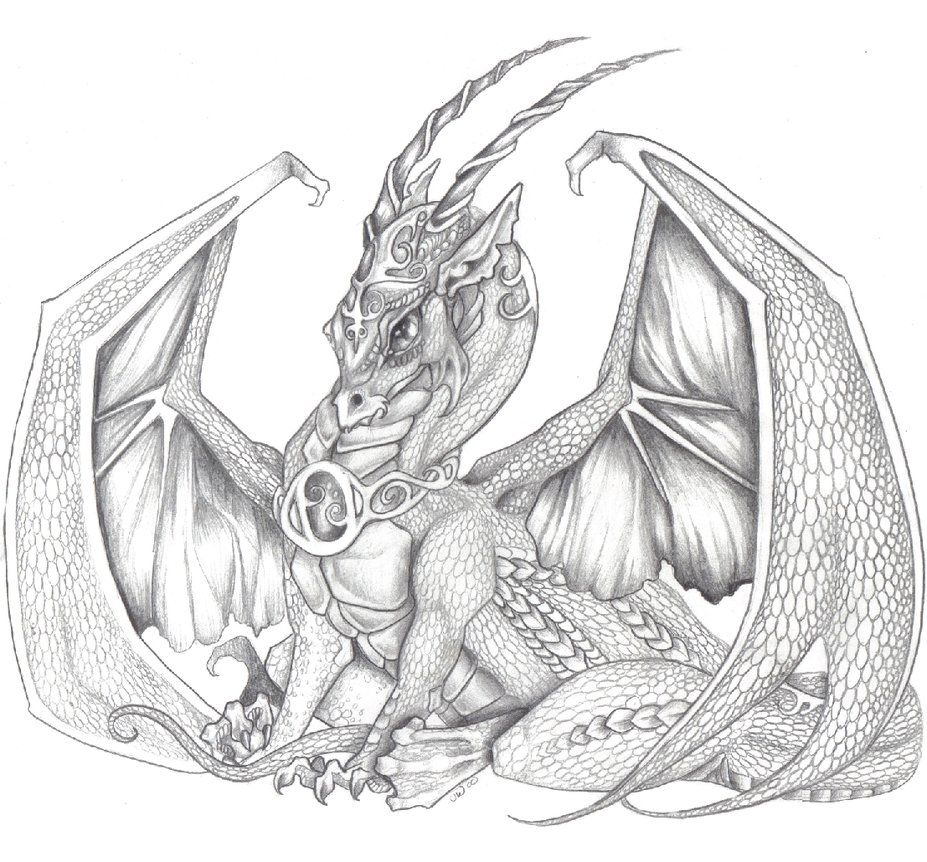 Sitting dragon by jessiesdragons this would make an for Pictures of awesome drawings