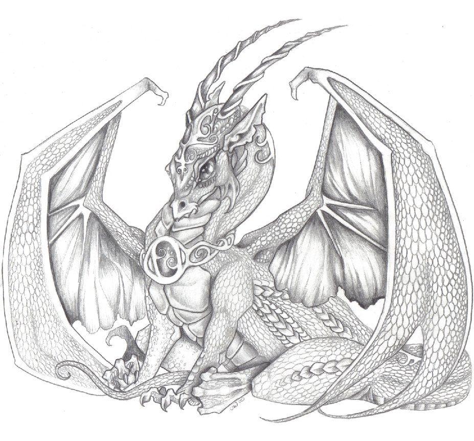 Sitting Dragon By Jessiesdragons On DeviantART