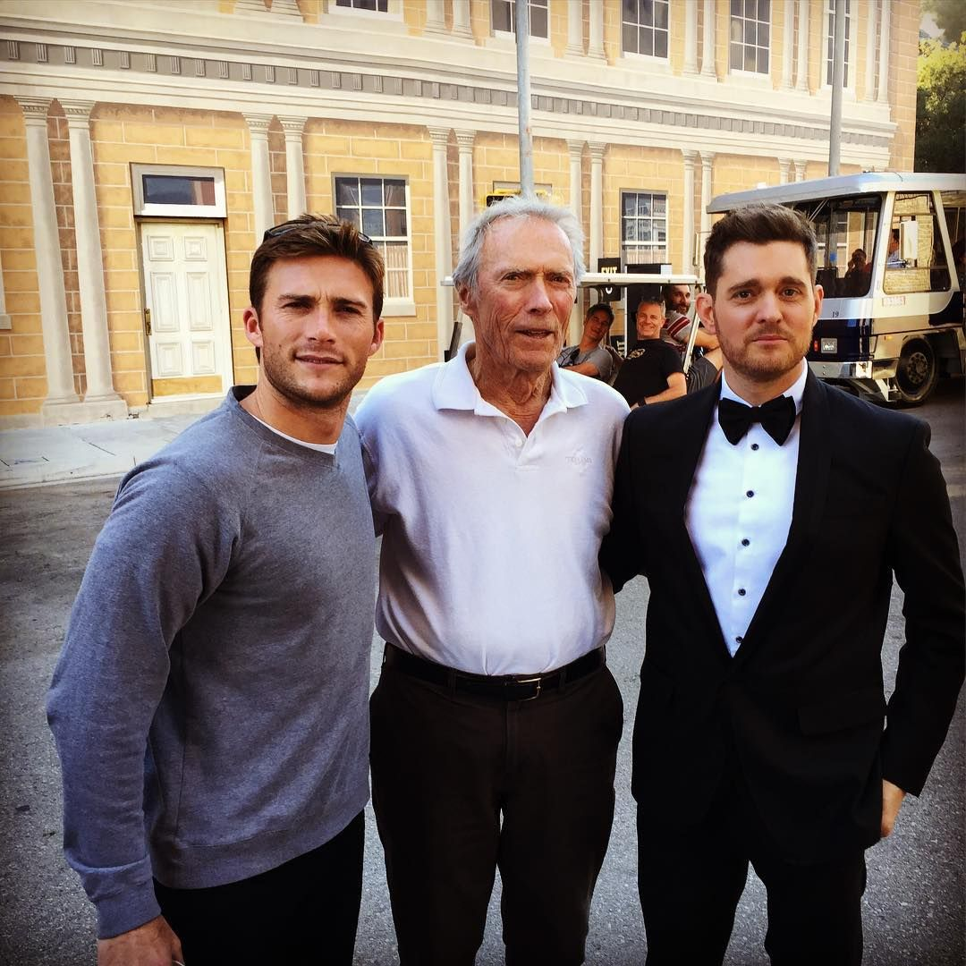 Had a great time on set yesterday with my pops. Michael buble was shooting right around the corner so we walked over and said hello. Great guy!!! #setlife #LA