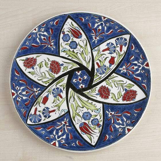 Ceramic plate & Ceramic plate   çini modelleri   Pinterest   Ceramic plates Turkish ...