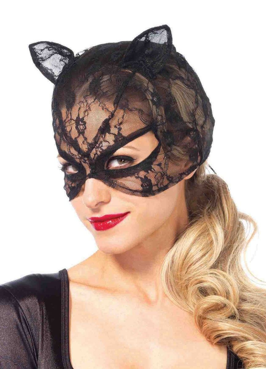 Looking for the purrrrfect costume accessory for your kitty outfit? This black lace cat mask is just the thing! Made by Leg Avenue this gorgeous black lace ...  sc 1 st  Pinterest & Lace Black Cat Costume Mask with Ears | Pinterest | Cat mask Sexy ...