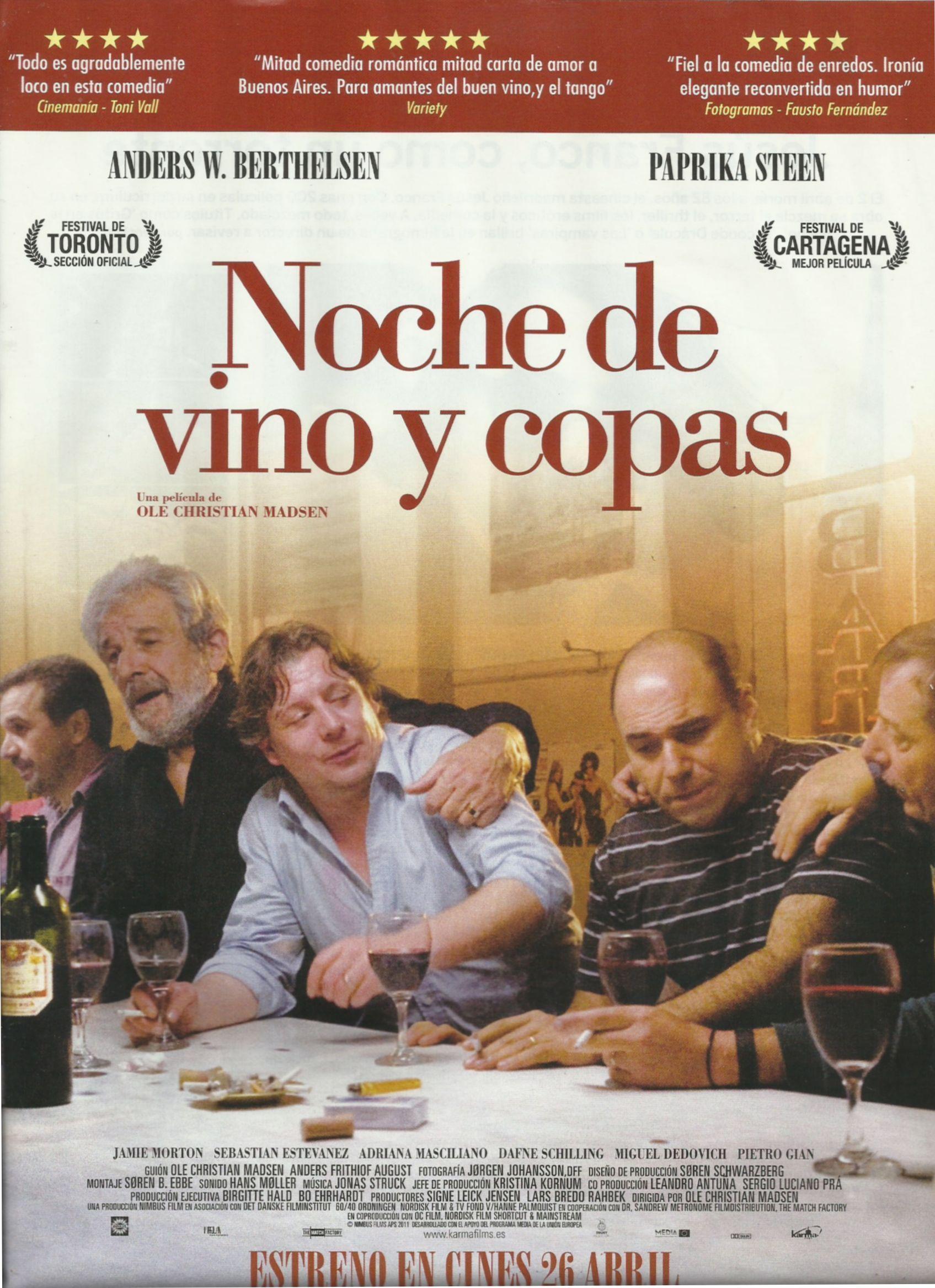 Noche De Vino Y Copas 2011 Tt1609492 Noche De Vino Vino Carteles De Cine