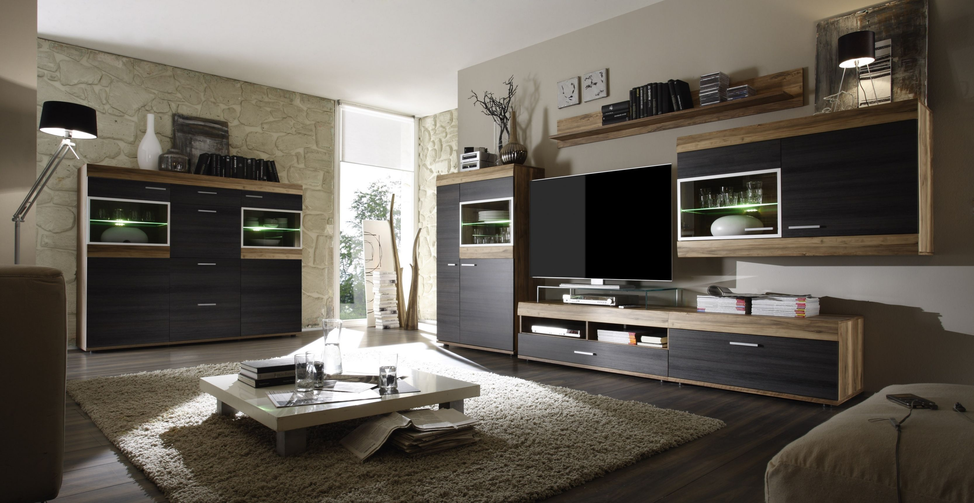 Brillant Wohnzimmer Nussbaum