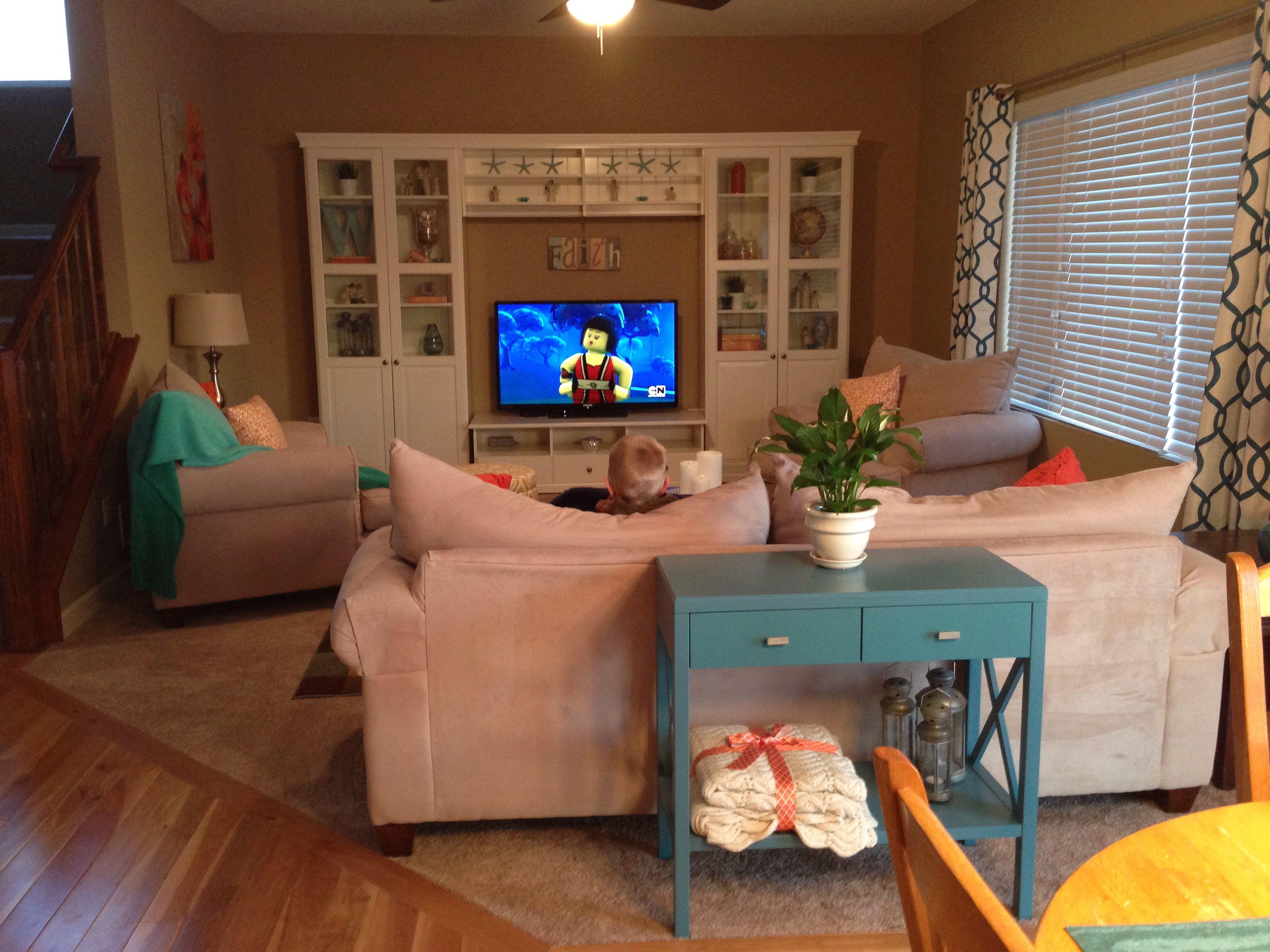 My Living Room Ikea Liatorp Entertainment Center Aqua Yellow Teal