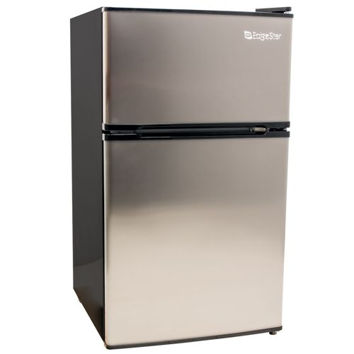 Edgestar Crf321ss Stainless Steel 19 Inch Wide 3 1 Cu Ft Energy Star Rated Fridge Freezer With Interior Lighting Compactappliance Com Compact Fridge Compact Fridge Freezer Compact Refrigerator