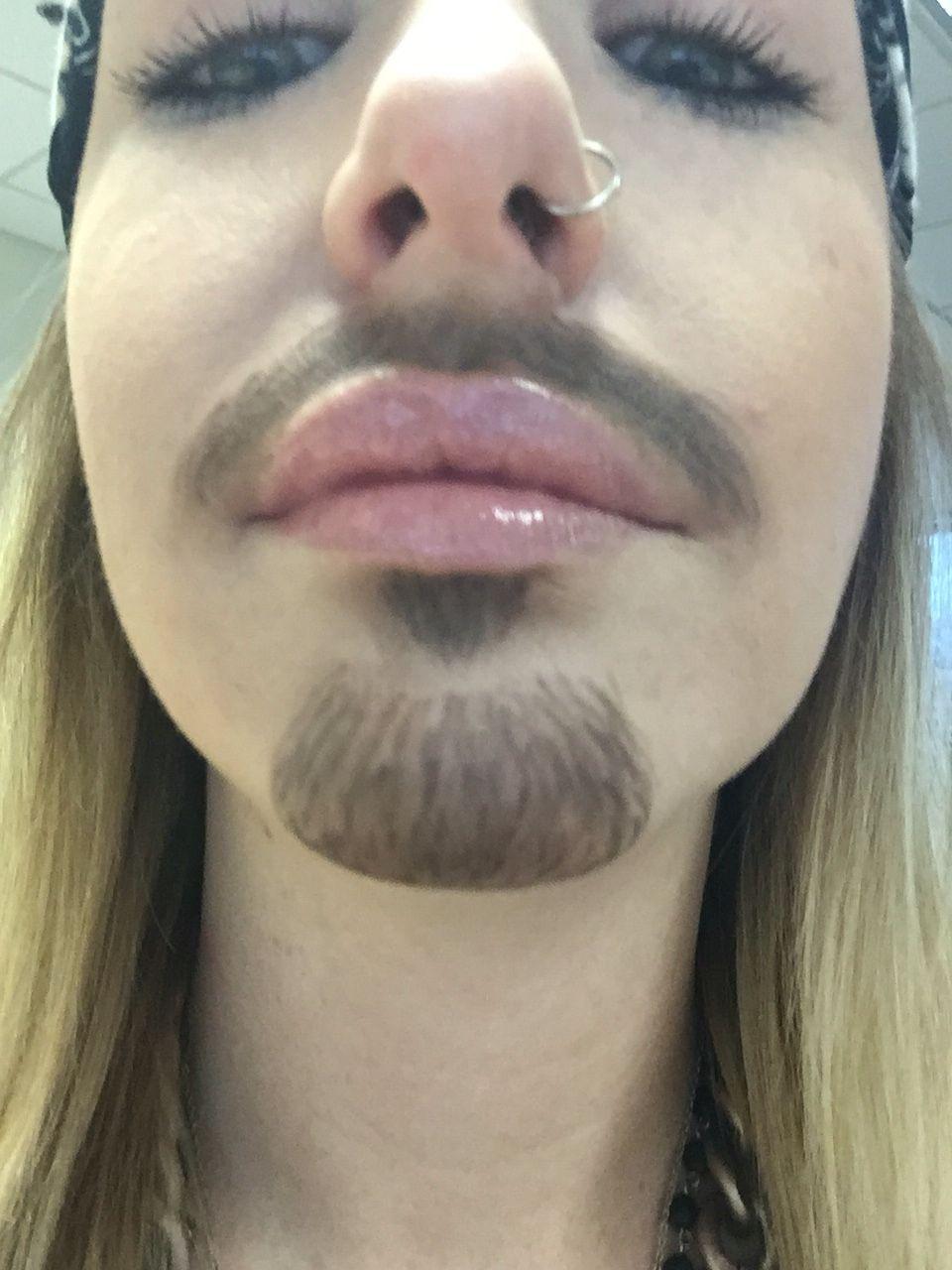 Fake Beard Using Anastasia Brow Wiz In