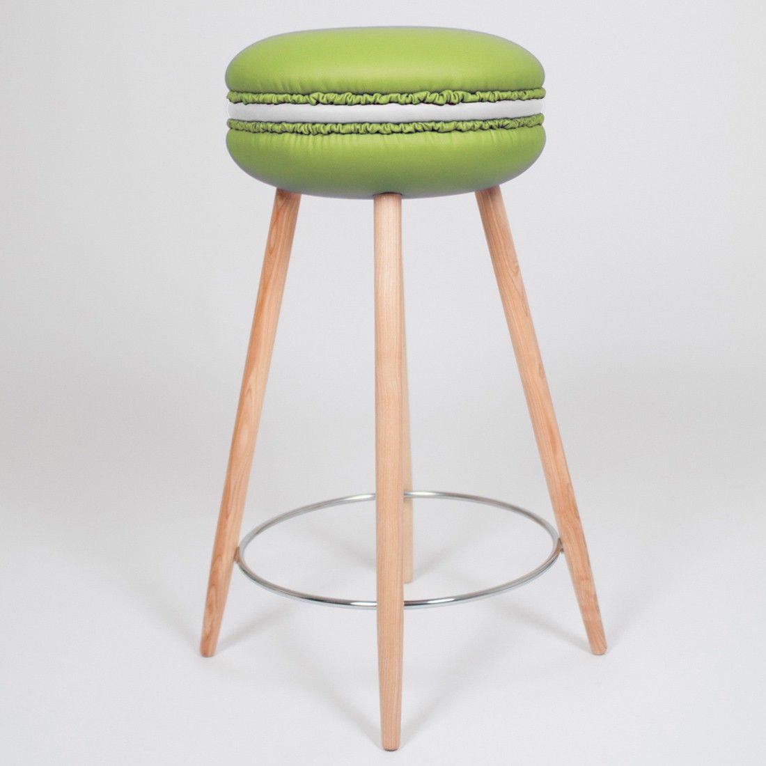 Ce tabouret design haut avec ses pieds en bois de fr ne - Tabouret de cuisine design jaune ...