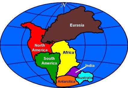 Pangea Continents Map Pangea est quand touts les continents est former dans un tres