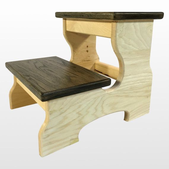 Stupendous Two Step Stool Wood Footstool In Black White By Cw Alphanode Cool Chair Designs And Ideas Alphanodeonline