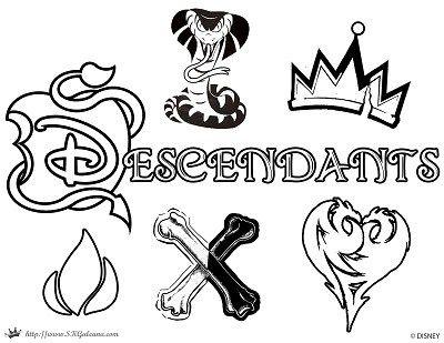 Free Disney Descendants Coloring Pages 3 Descendants Coloring