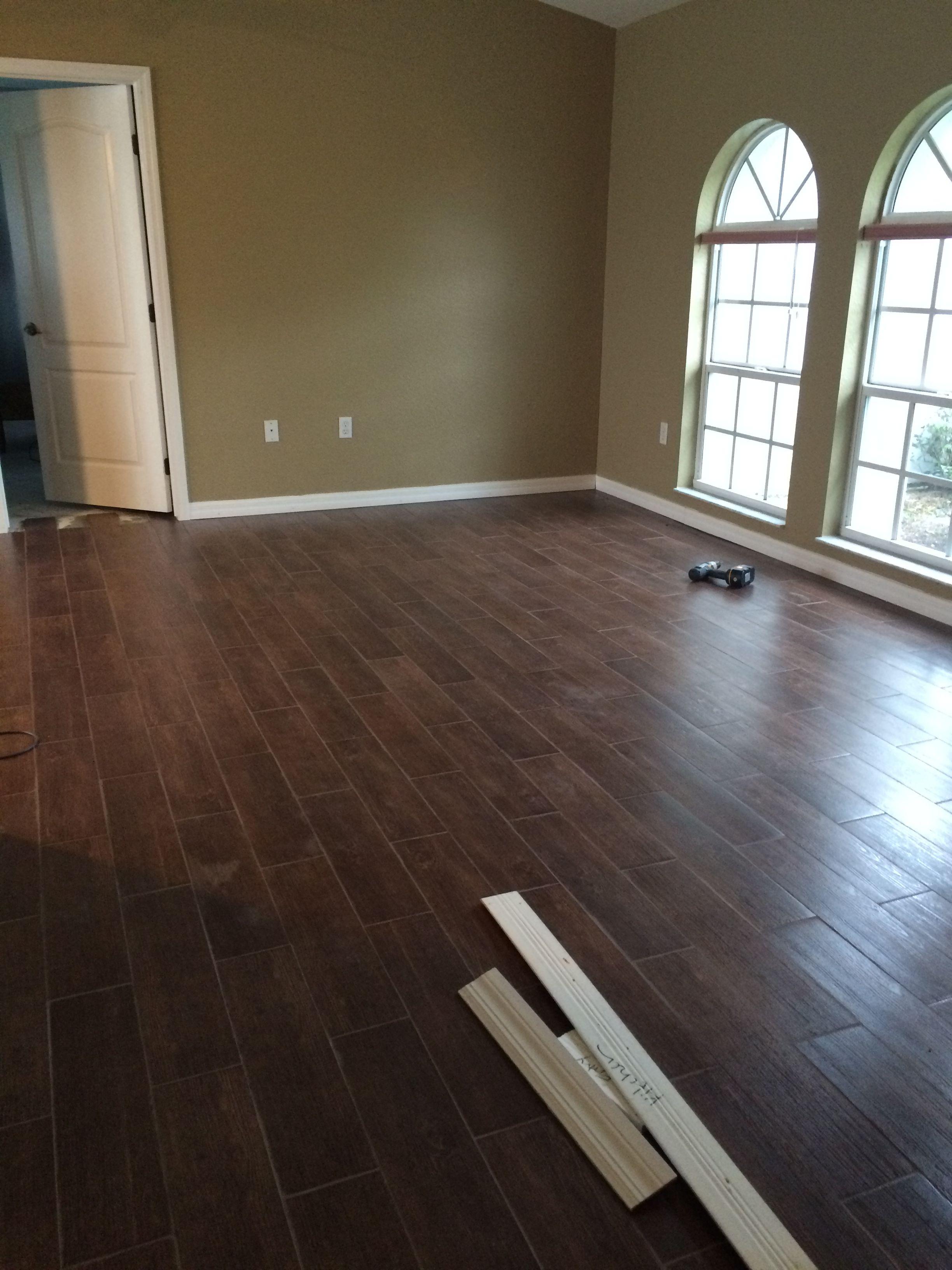 Ceramic tile that looks like hardwood House flooring