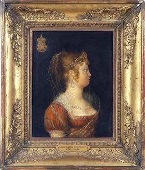 Leopoldina von Habsburg, first Empress of Brazil, by Jean Baptist Debret