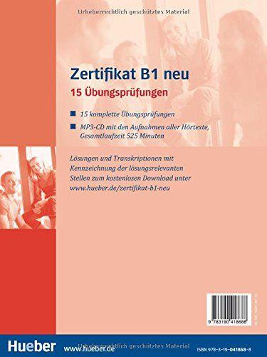 Zertifikat B1 neu: 15 Übungsprüfungen.Deutsch als Fremdsprache ...
