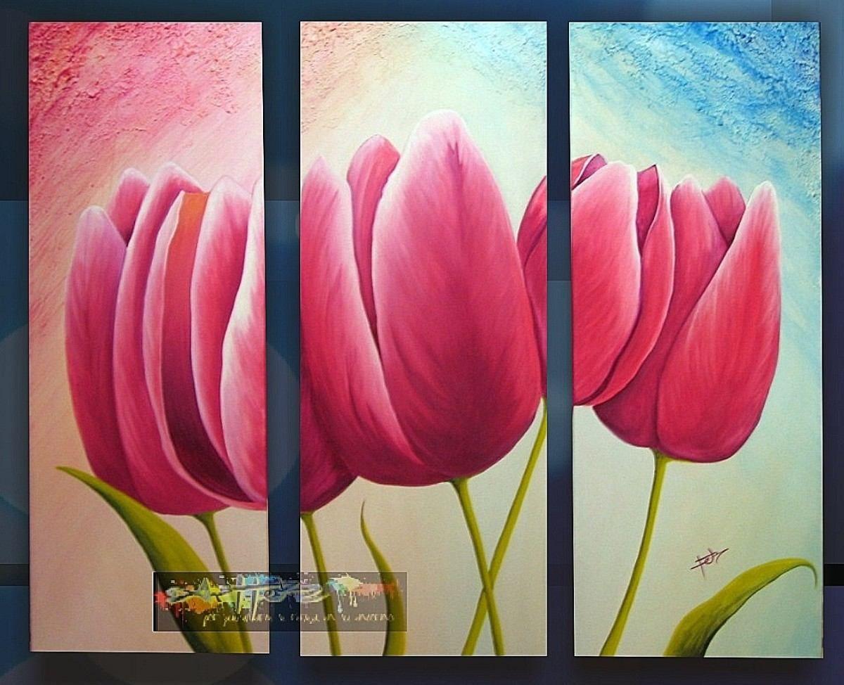 Pinturas al oleo de flores abstractas buscar con google for Cuadros tripticos online