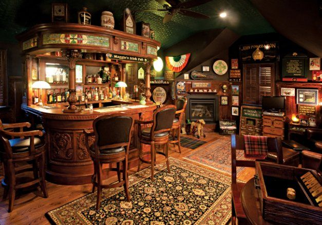 Chatham Homeowner Creates Authentic Irish Bar In Home · Irish BarPub  DesignPub ...