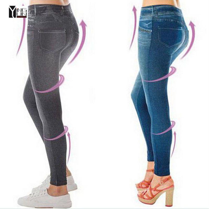 8586eb72e0325 2017 Hot sale women fashion jean leggings style female slim shape pants  free size girl trousers fashion jeggings. Item Type: Leggings. Item: pants.