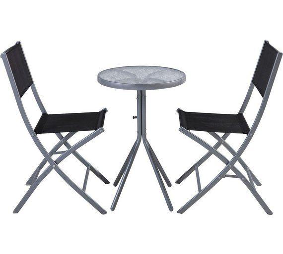 Buy Kara 2 Seater Garden Bistro Set Black At Argoscouk Your