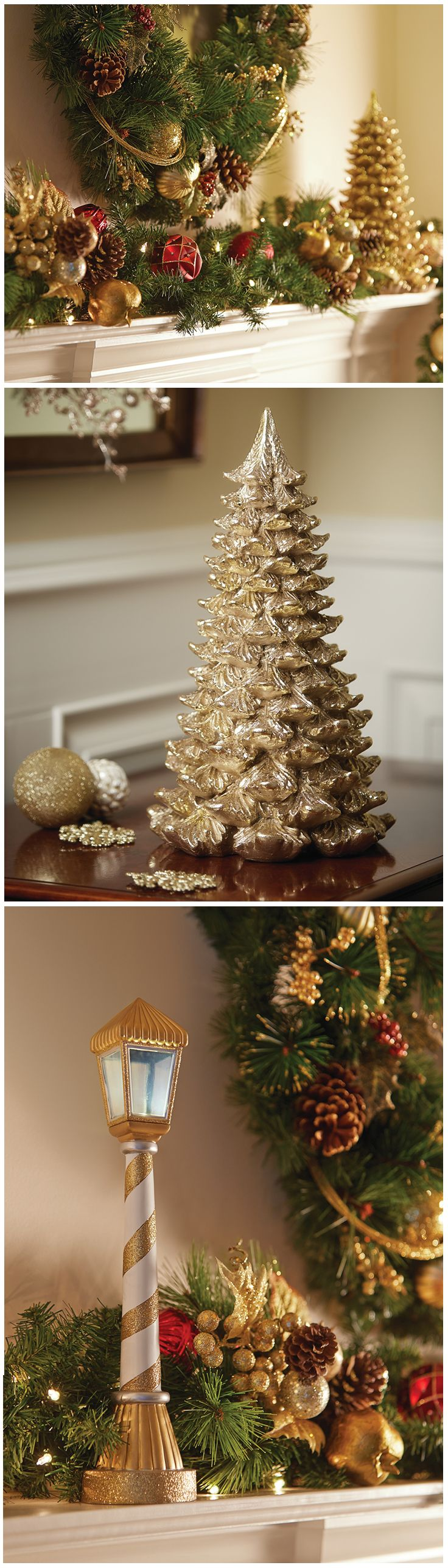 The sophisticated sparkle of the Winter's Wonder Holiday Collection by Martha Stewart Living adds so much Christmas cheer to a home. The Home Depot has many other ways to create a warm and festive look with indoor Christmas decorations. We have holiday figurines, table decorations, tree skirts and much more. Click through to see how you can build cheer in your home this holiday season.