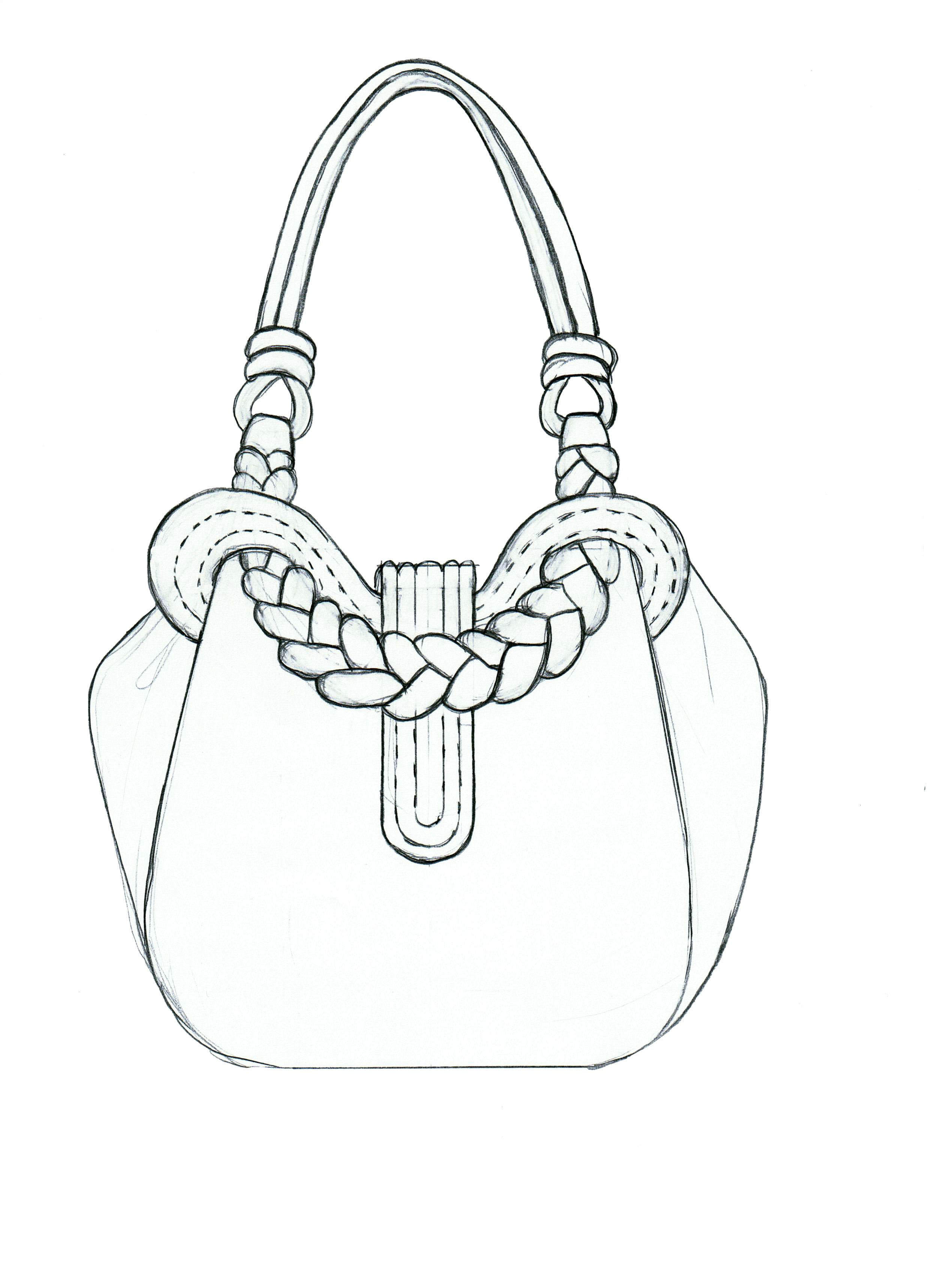 Hobo Bag Drawing Ilration Fashion Design