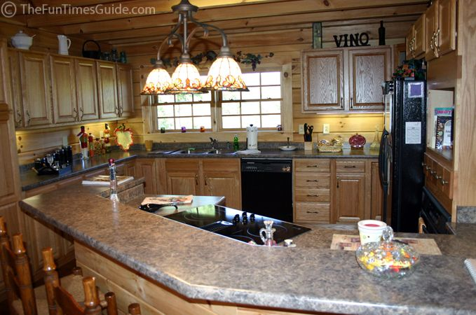 Not a fan of the wood walls would rather tile but the kitchen – Open Kitchen with Island