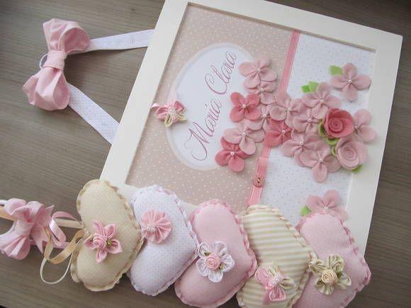 Enfeite De Kit ~ Kit Enfeite de Porta + Móbile Cortina Enfeite de porta maternidade, Papel fotografico e Florzinhas