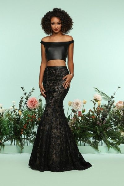 This rocker chic prom dress by Zoey Grey 31221 will make a statement ...