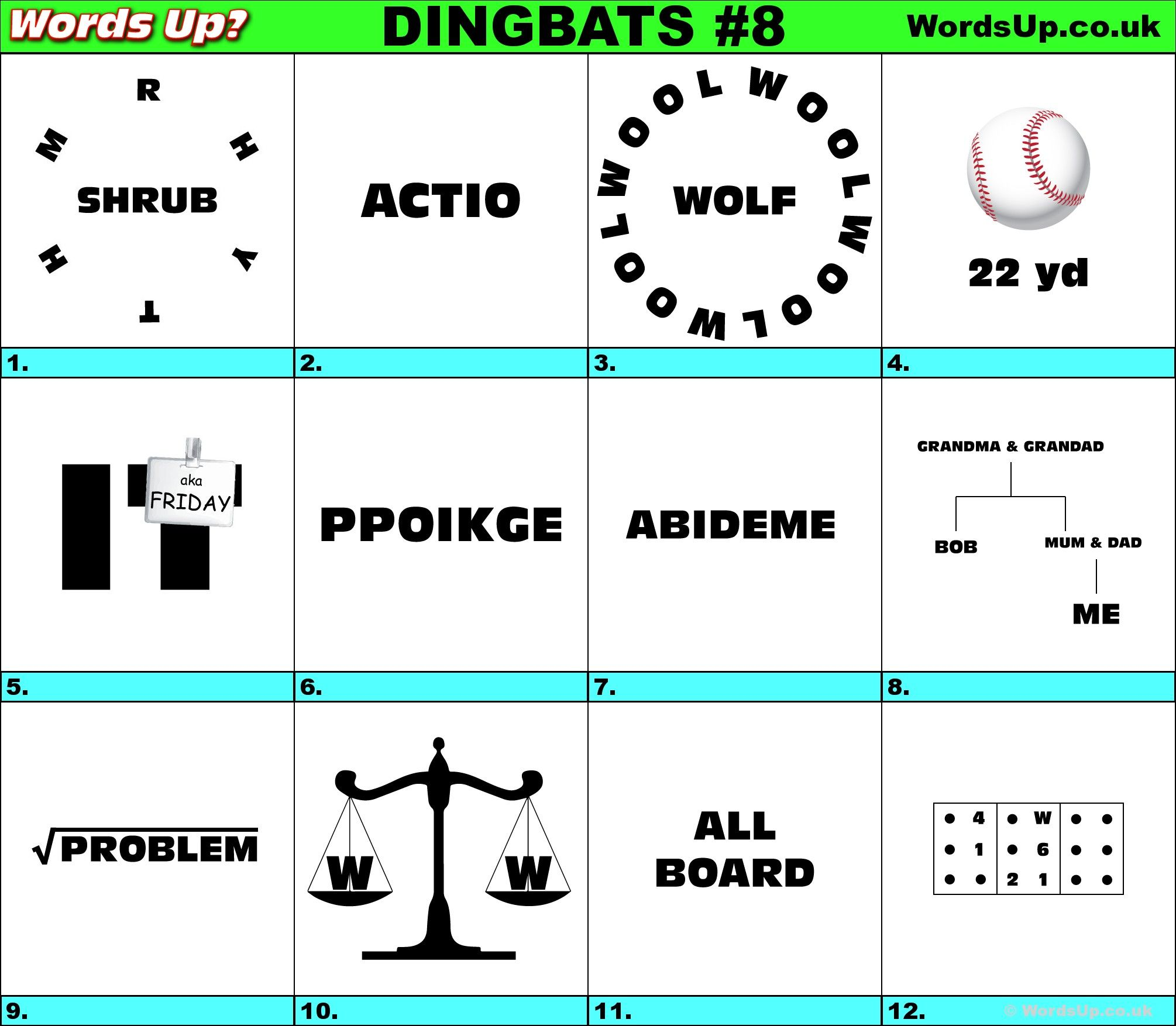 Image Result For Dingbats With Answers