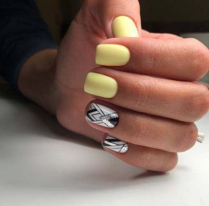 Trendy Nails Summer Shellac Yellow 61 Ideas Yellow Nails Trendy Nails Yellow Nails Design