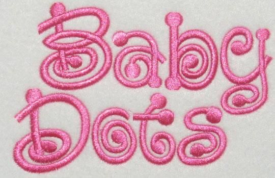 Baby Dots Embroidery Fonts | Apex Embroidery Designs, Monogram Fonts