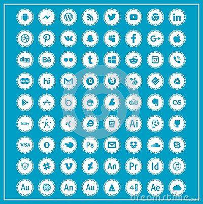 Download Social icons Vecteurs logo Kine master Twitter