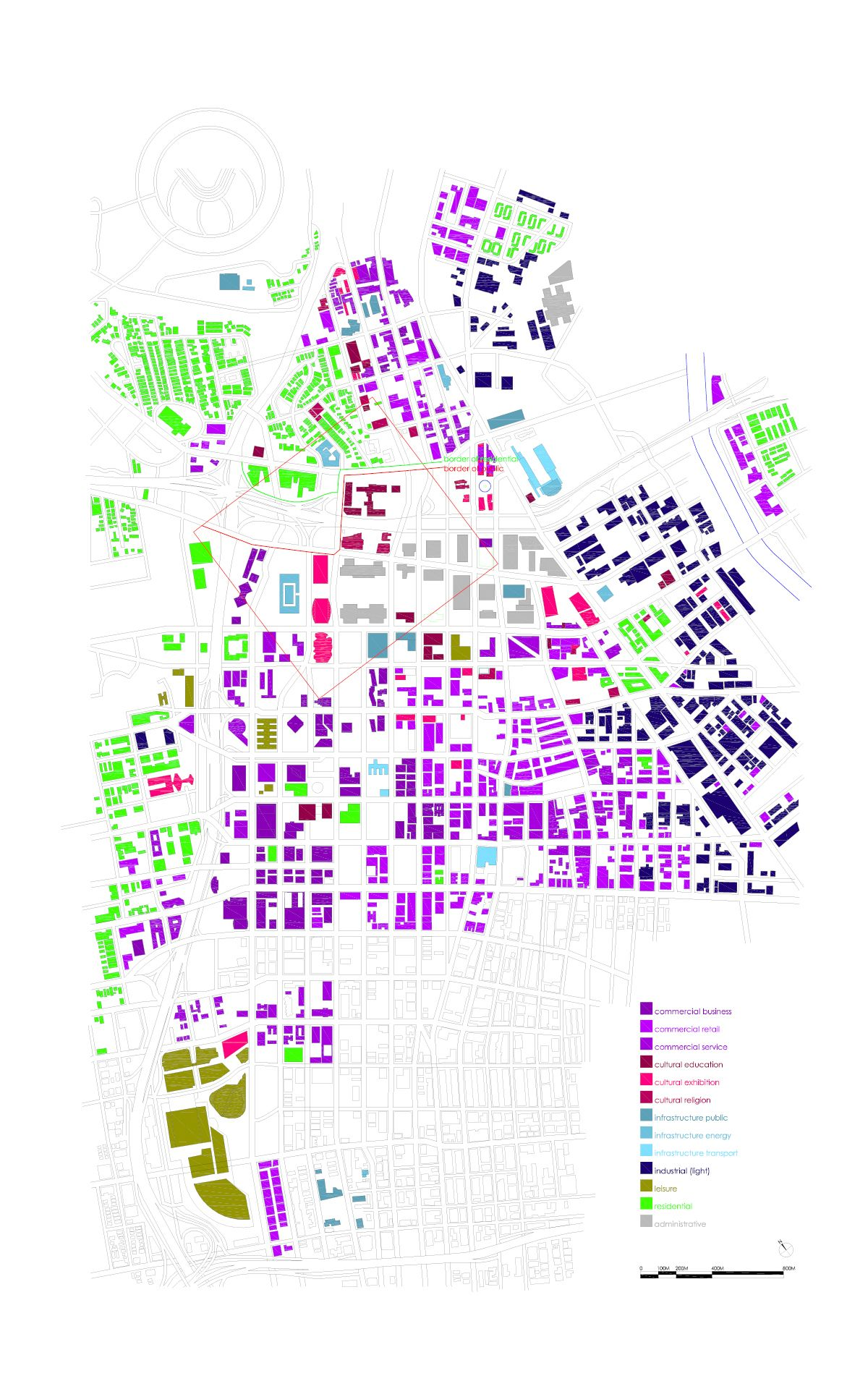 This Is Diagram Of A Zoning Map Of Downtown Los Angeles By A - Los angeles zoning map