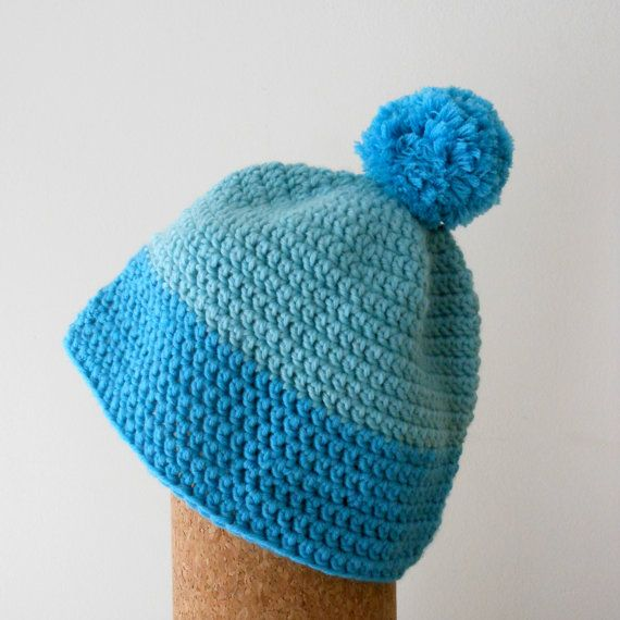 blue color block toddler hat // baby beanie // by moonvalleygoods