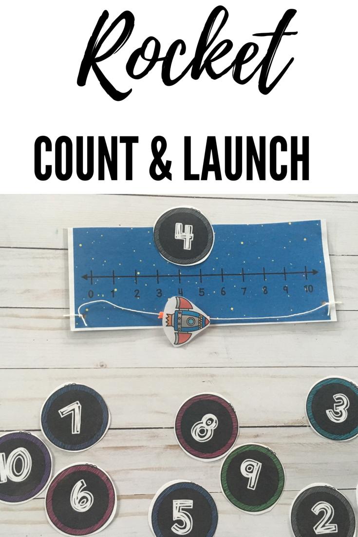 Rocket Count And Launch Space Themed Math Activity For Preschool And Prek Space Preschool Preschool November Classroom [ 1102 x 735 Pixel ]
