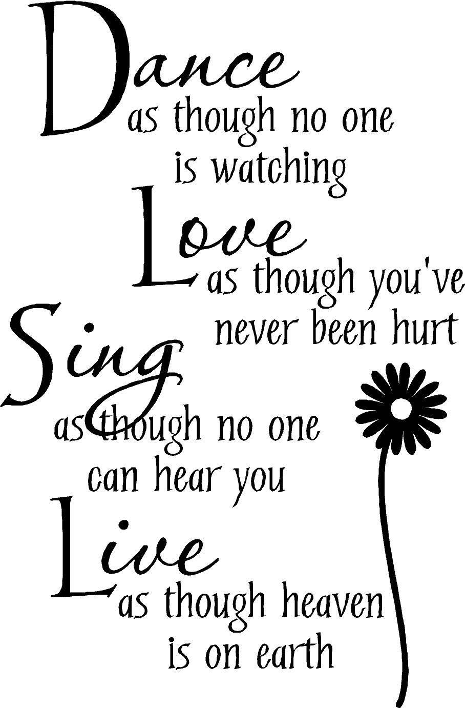 Dance as though no one is watching Love... wall art wall   Etsy